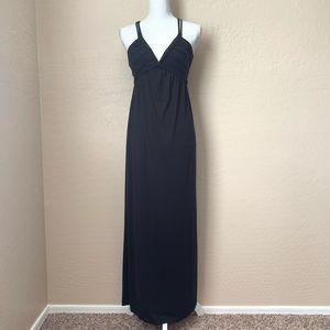 Max Studio Jersey Maxi Dress Knotted V-Neck